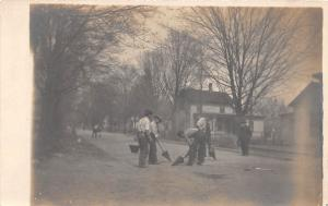 E54/ Occupational Real Photo RPPC Postcard c1910 Street Workers Crew 12