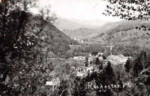 Rochester Vermont Birds Eye View Real Photo Vintage Postcard JF235249