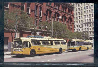 Trolley Buses Dayton, Ohio, unused
