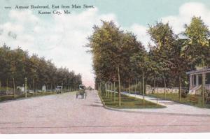Missouri Kansas City Armour Boulevard East From Main Street 1909 Curteich