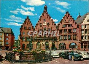 Postcard Modern Frankfurt Am Main Romer und Gerechtigkeitsbrunnen