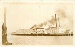 1920s Nestles Food Waterfront Factory RPPC real photo postcard 10273