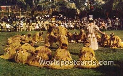 Taahitian Dance, Danse Tahitienne Tahiti French Polynesia Unused