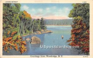 Greetings from Woodridge NY writing on back