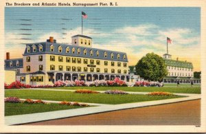 Rhode Island Narragansett Pier The Breakers and Atlantic Hotels 1951