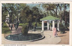 ST. PETERSBURG, Florida, 1900-1910´s; Drinking Fountain, Williams Park