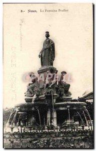 Old Postcard Nimes The Pradier fountain