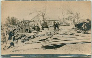 Vintage RPPC Real Photo Postcard Disaster Scene - Street Damage c1910s Unused