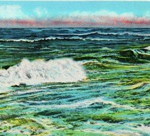 Greetings from Rehoboth Beach, Delaware, Ocean Waves, Surf, Postcard