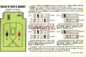 TABLEAU DU TRENTE & QUARANTE - RÈGLES DU JEU & Comment jouer