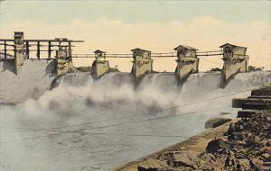 Panama Gatun Spillway Discharging Water