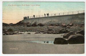 Lynn, Mass, The Breakwater, Red Rocks