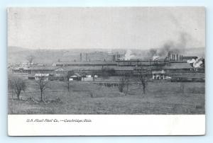 Postcard OH Cambridge US Sheet Steel Company Pre 1920s View I10