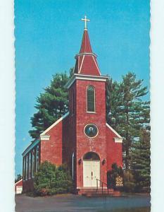 Unused Pre-1980 CHURCH SCENE Damariscotta Mills Maine ME p3868