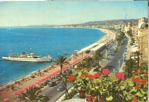 France, Nice, La Promenade des Anglais, 1970 used Postcard
