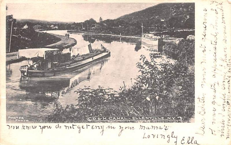 Delaware and Hudson Canal Post Card Old Vintage Antique Ellenville, New York,...