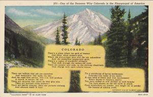 One of the Reasons Why Colorado is the playground of America, Poem, Colorad...
