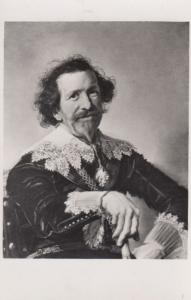 A Man With A Cane Frans Hals Vintage London Gallery Painting Real Photo Postcard
