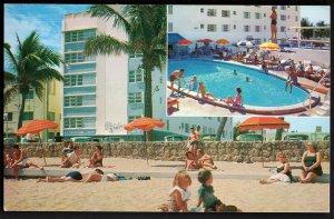 32220) Florida MIAMI BEACH Blue Water Hotel 74th Street & the Ocean - Chrome