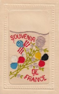 Embroidered 1914-18 ; Allies' Flags , Flowers : #5