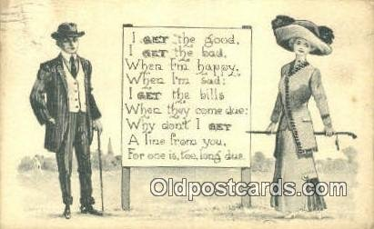 Artist Bernhardt Wall Postcard Post Card Old Vintage Antique 1912
