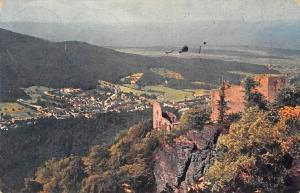 Baden-Baden Blick vom alten Schloss, Castle Ruins Chateau Panorama