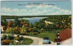 LAKEVIEW, Arkansas  AR   BULL SHOALS LAKE from Montgomery's Court 1940s Postcard
