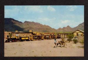 AZ OLD TUCSON Railroad Train ARIZONA Postcard RR PC