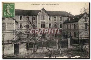 Saint Maixent Postcard Old Superior School Girls