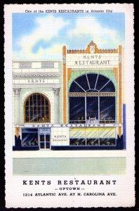 New Jersey ATLANTIC CITY Kents Restaurant - Uptown - 1214 Atlantic Avenue LINEN