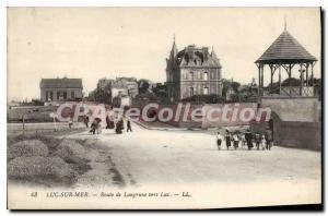 Postcard Old Route De Luc Sur Mer Langrune By Luke