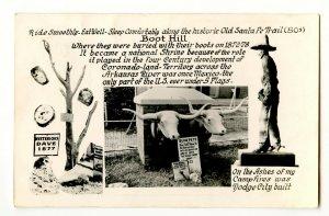 Boot Hill Dodge City Kansas Vintage Real Photo Postcard Standard Multi View Card