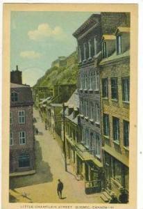 Little Champlain Street, Quebec, Canada, PU-1934