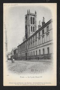 Henry IV School Paris France Unused c1907
