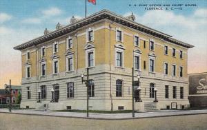 U. S. Post Office And Court House, FLORENCE, South Carolina, 1930-1940s