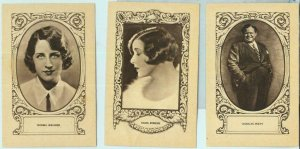 95688g - Lot of 5 VINTAGE ADVERTISING CARDS - CINEMA, Actors: CHARLES PUFFY