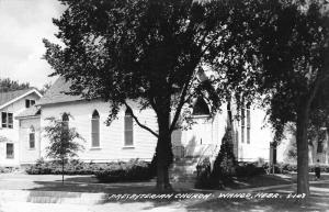 Wahoo Nebraska Presbyterian Church Real Photo Vintage Postcard JB626251