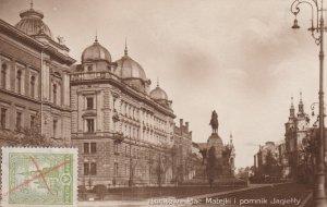RP: KRAKOW. Plac Matejki i pomnik Jagietty , Poland , 1928