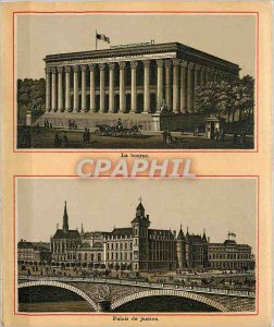 Old Postcard Stock Exchange and Palace of Justice