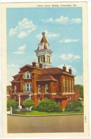 Adair Court House, Columbia, Kentucky, 1930-1940s