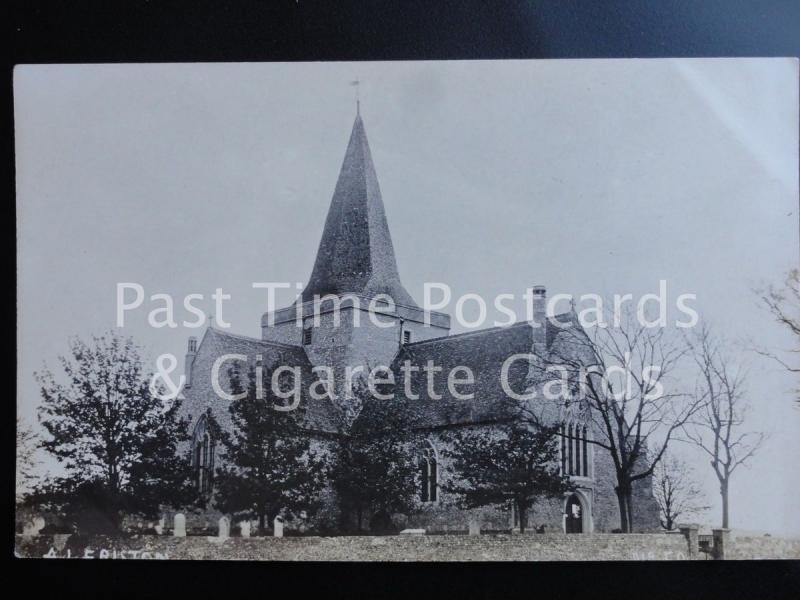 Old RPPC - Alfriston Church - Pub A H Bliss & Co