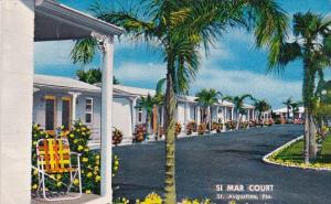 Florida Saint Augustine Si Mar Distinctive Court 1954