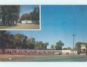 Pre-1980 MOTEL SCENE Evanston Wyoming WY B7517