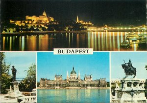 Postcard different aspects and views from Budapest