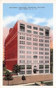 High Point NC $!M Furniture Exposition Bldg  Before Addition on Top 1950 Linen