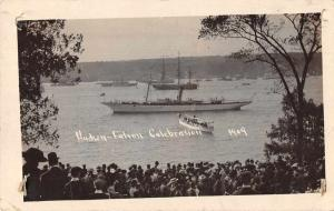 Hudson Fulton Celebration Ships in Harbor Real Photo Vintage Postcard J926334