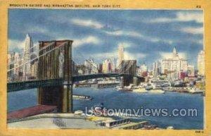 Brooklyn Bridge in New York City, New York