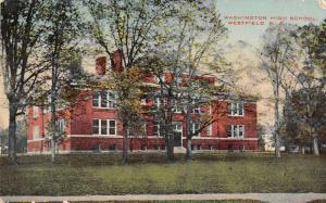 Westfield New Jersey Washington High School Vintage Postcard J2531369