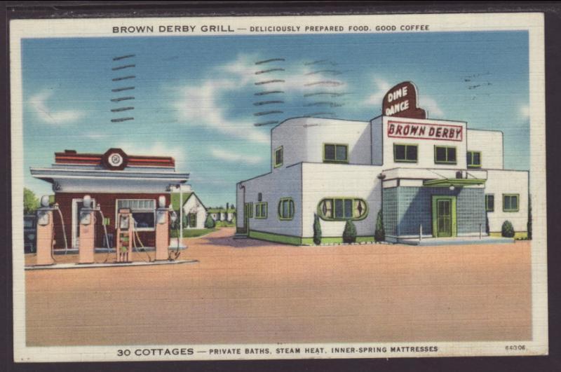 Brown Derby Grill,Evansville,IN Postcard