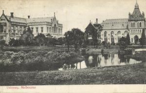 australia, MELBOURNE, University (1909)